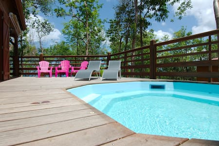 House  in Bouillante -1/6 pers -private pool, BBQ