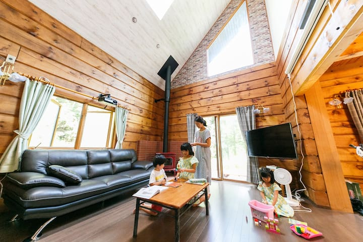 Good access to Mt. Fuji 120 inch movie & fireplace