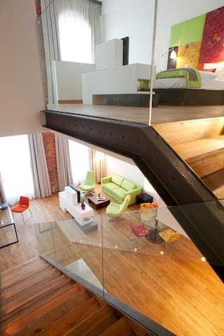 Two-level Design Apartment with one bedroom