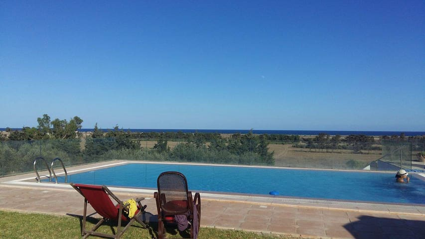 villa avec piscine en pleine nature
