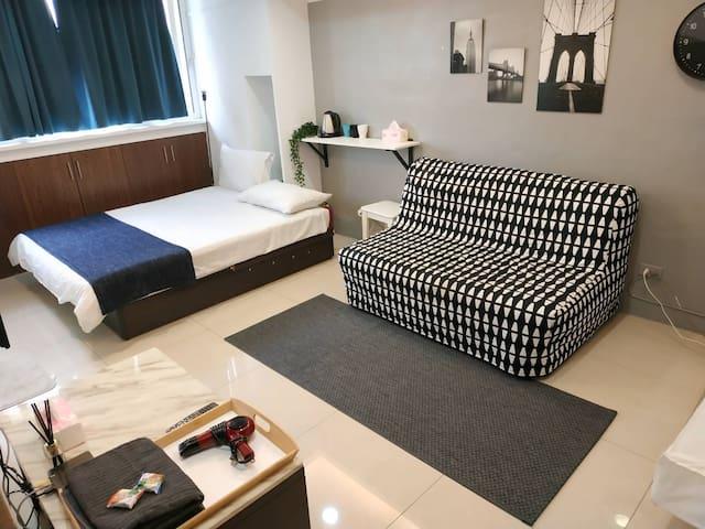 Sweet Studio for 1-4 guests, Ximen MRT- 5 min walk
