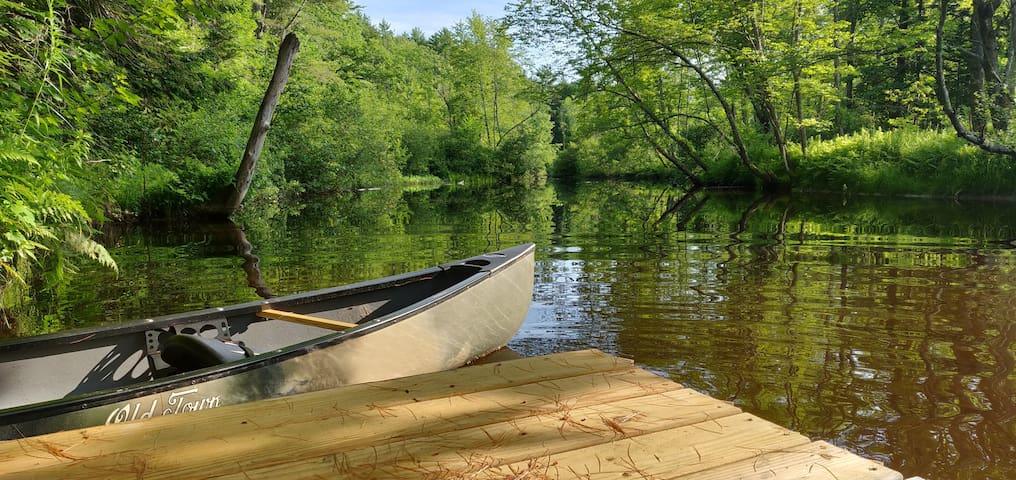 Private riverside retreat
