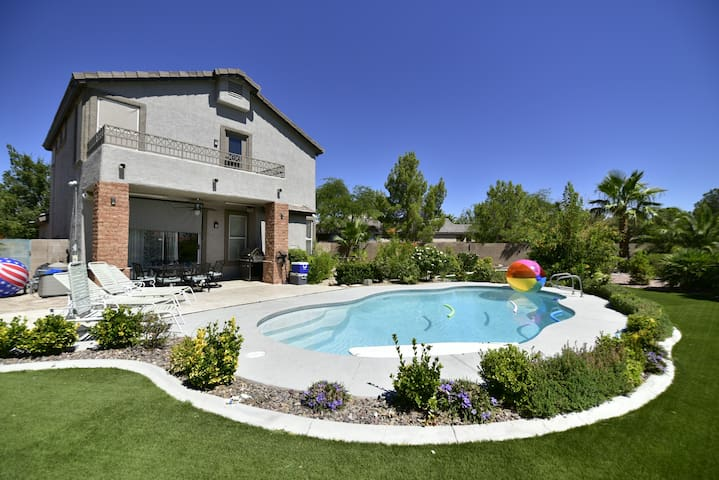 Luxury home with Huge backyard and private pool