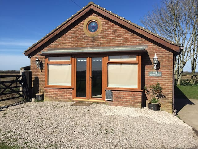 A quiet and secluded bungalow situated rurally.