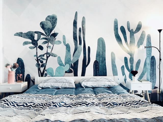 【Into】设计师's公寓大宅已供暖(65 ㎡)超美景观阳台,挚爱的永宁门钟楼大雁塔,地铁步行3分钟