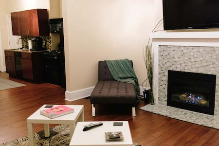 Cozy & Modern 1BD/BR Centrally Located w/Fireplace