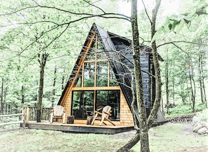 The A-Frame at Evergreen Cabins- Sleep under stars