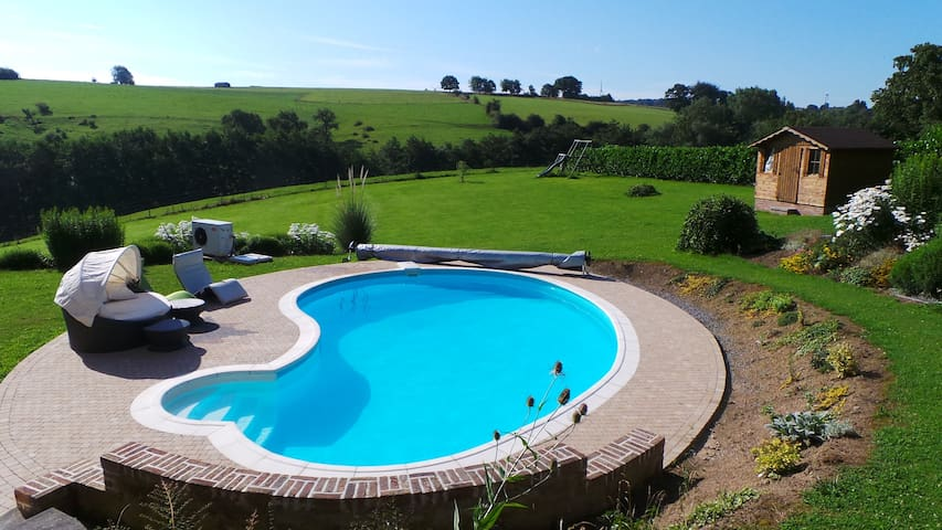 Perfect little flat with a pool!