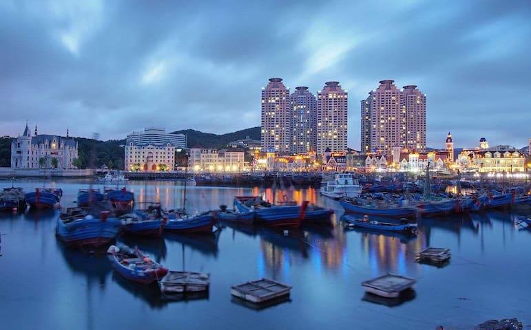 【禅悦听涛之602】老虎滩渔人码头海景房观景露天阳台,看得见风景的房子