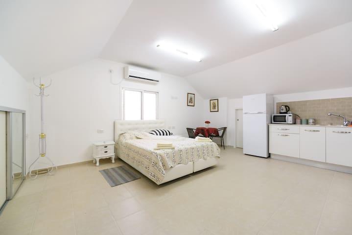 Studio apartment in an attic