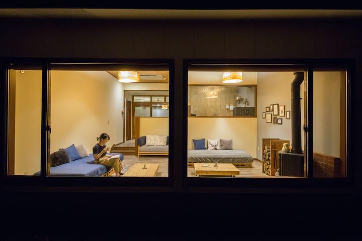 阿蘇の雲海と星空の絶景** 1日3組限定のマウンテンリゾート<room2>