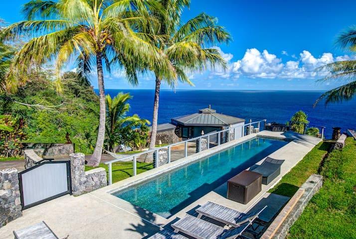 Luxury Cliffside Home w/Gorgeous Ocean Views, Private Pool, & A/C. Ocean Soul