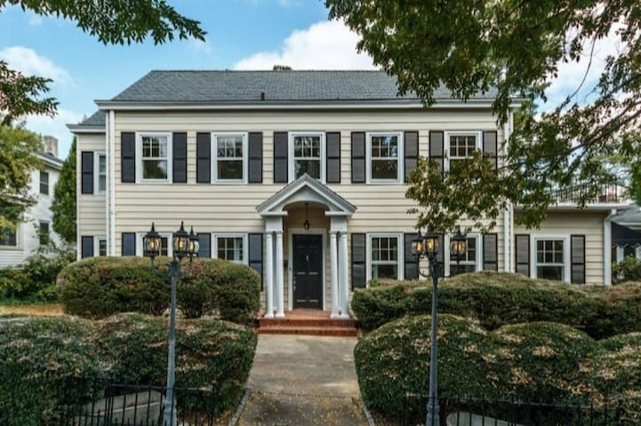 Airy Efficiency in Grand Old Home, Downtown Durham