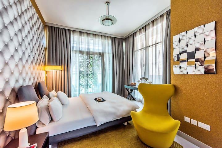 豪华1 居室,110美元 + 10分钟步行到迪拜帆船酒店