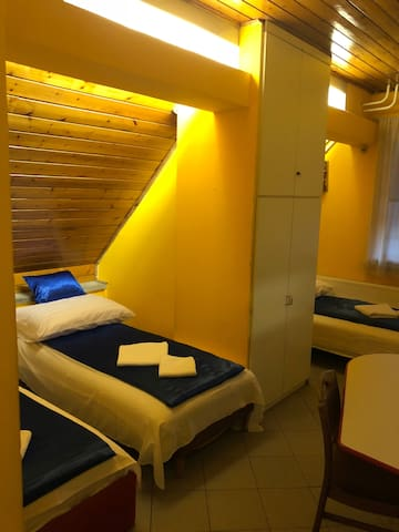Five bedded room with own bathroom