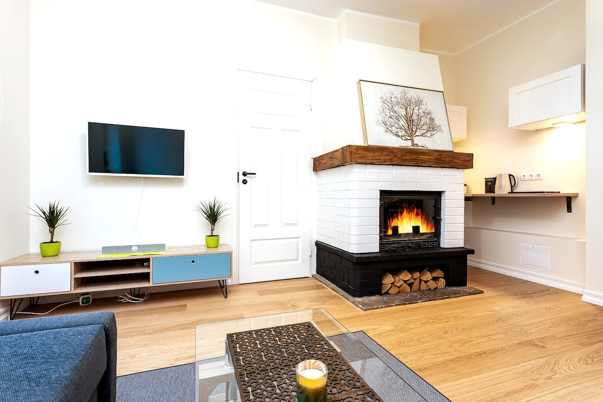 Stylish City Centre appartment with a fireplace 🔥