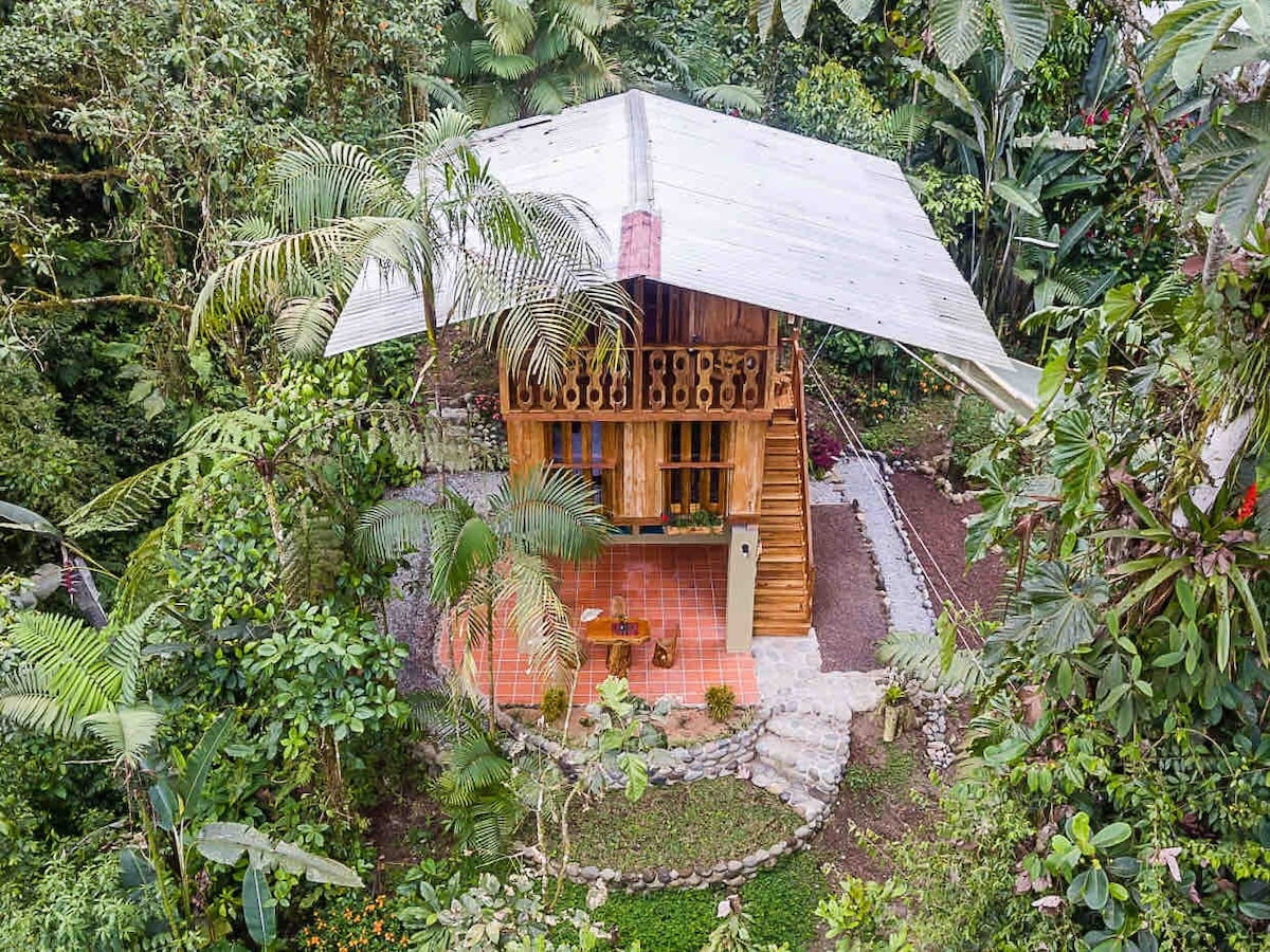 """EcoLux """"TreeHouse"""" on 5 acres, Yoga and Trails"""