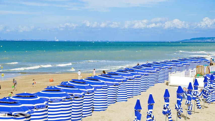Joli T2, 4 pers 2 piscines 300m plage Cabourg WIFI