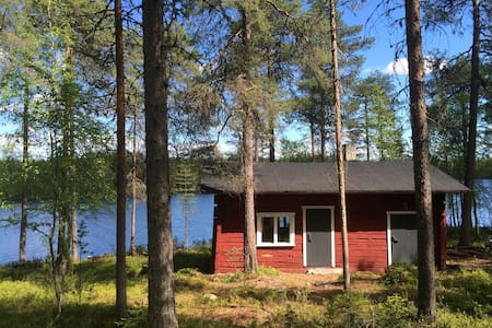 Lakeside cottage with a sauna