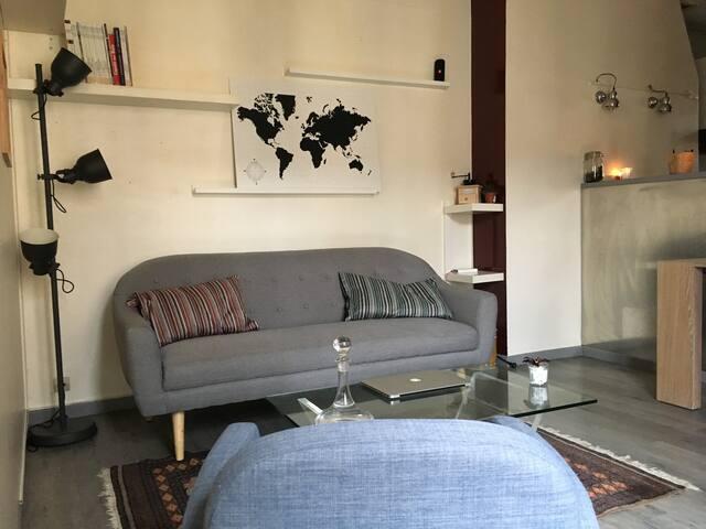 Appartement 2 pièces parisien cosy et trendy