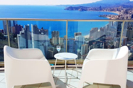 Luxury apartment on the 40th floor of Torre Lugano