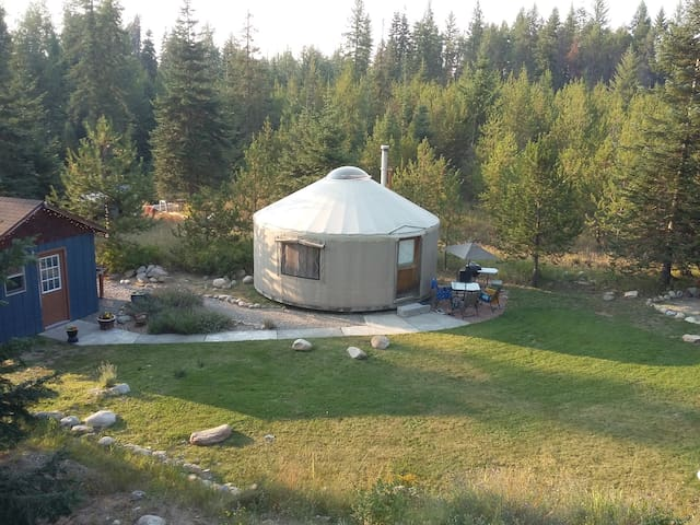 A yurt in the heart of an outdoor paradise