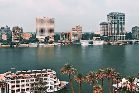 Bright, Charming Nile view 10th floor lovely Apt