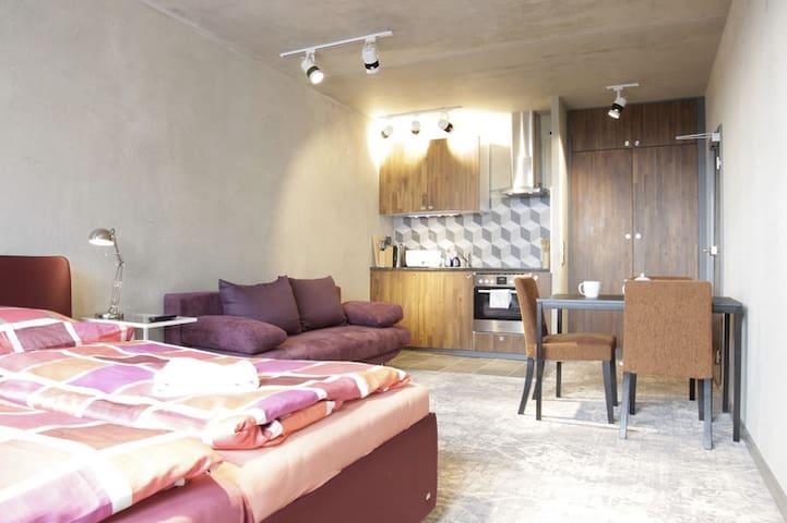 SUPER central New TOP-floor flat