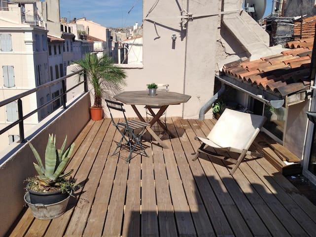 Small Loft roof terrace Vieux Port