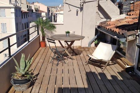 Small Loft roof terrace Vieux Port