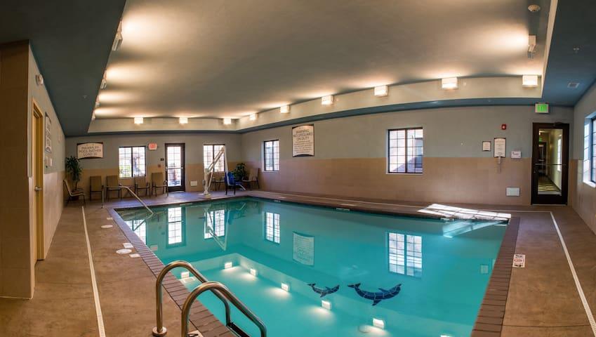 King Suite. Free Breakfast. Indoor Pool. Gym & Business Center.