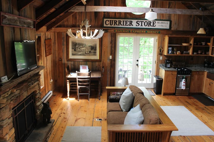 Adirondack Cabin on the Delaware River