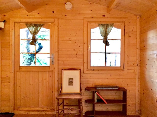 Private cabin + shared WC in the heart of town.
