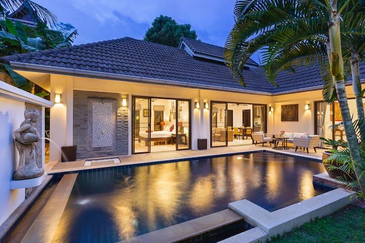 翻新过的泰国巴厘岛私人泳池别墅,两卧室