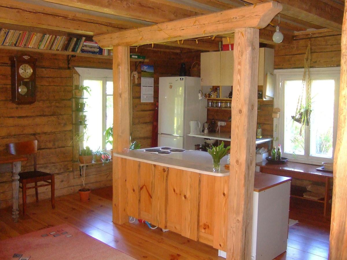 Small house in the seashore village
