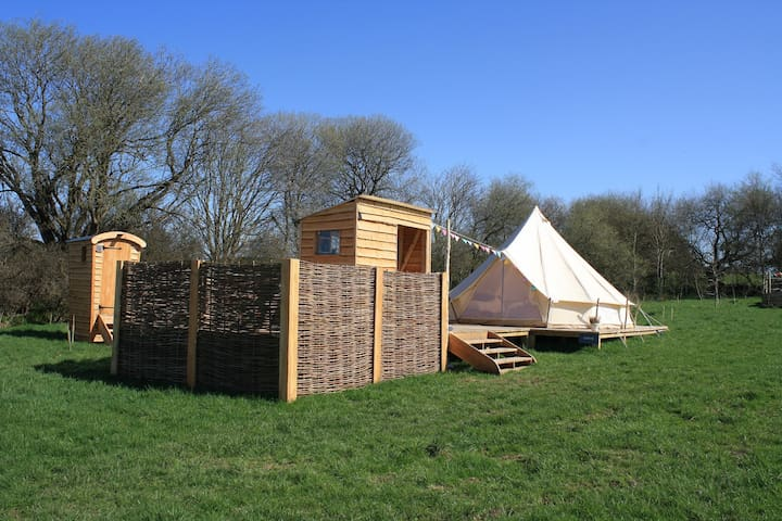 Idris - Luxury bell tent on an Iron Age hill fort