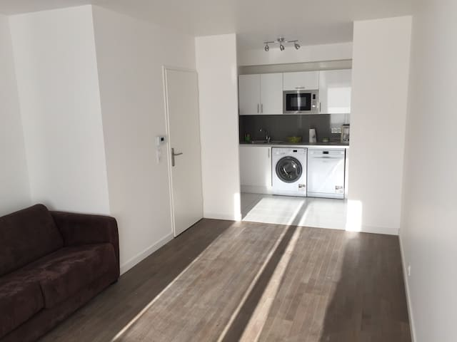 Two rooms 45 m2 with terrace.
