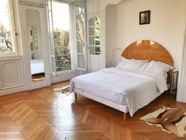 Stunning bedroom with own bathroom in French Villa
