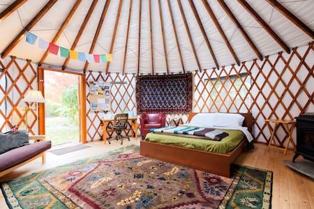 The 36th Street Urban Yurt, in Large Garden Oasis