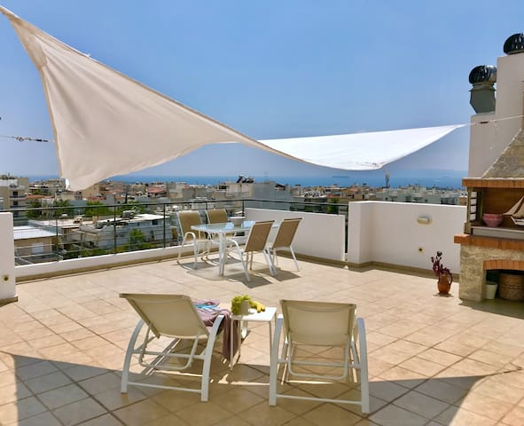 Sea View Penthouse Studio with Private Terrace