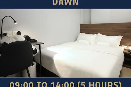 Day use 5 hours only: 9AM-2PM  same day in Bugis