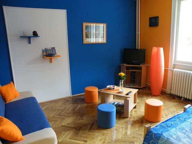 Central flat with parking & BBQ  40m2 - Apt. No. 1