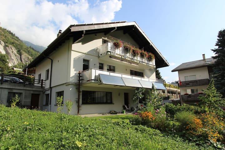 Spacious Apartment in Mörel with Garden