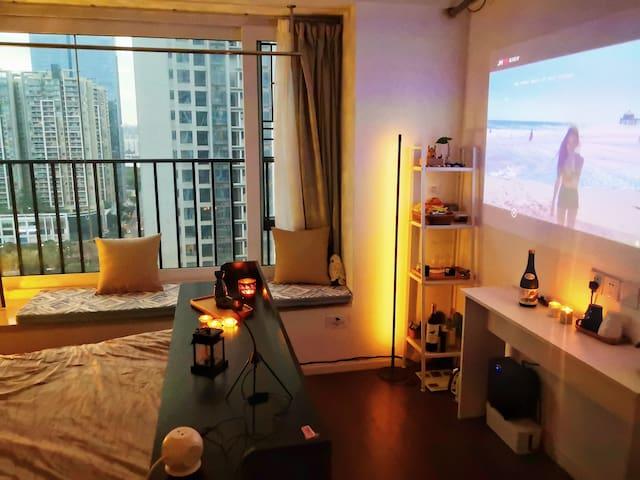 浴缸!广州Silas' room珠江新城/兴盛路/猎德站
