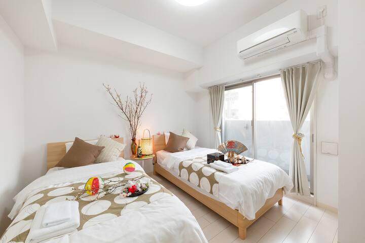 ★Tennoji East|Perfect room for couple travel Osaka
