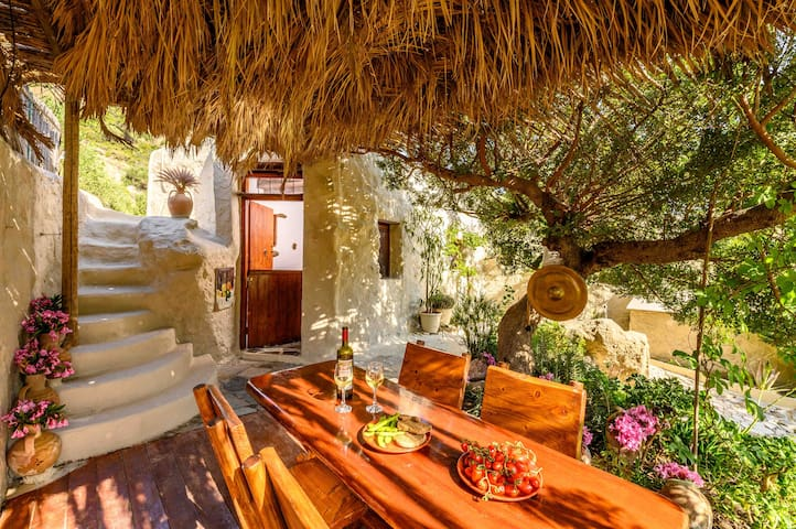 Skinos family cottage with private olive Garden