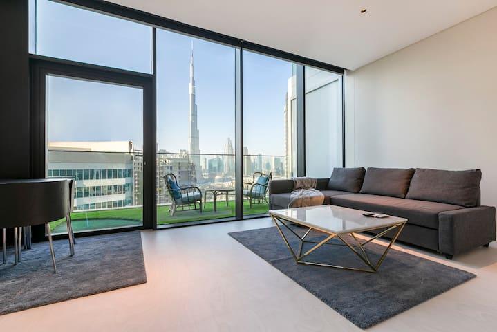 Studio In Marquise Square With Burj Khalifa View