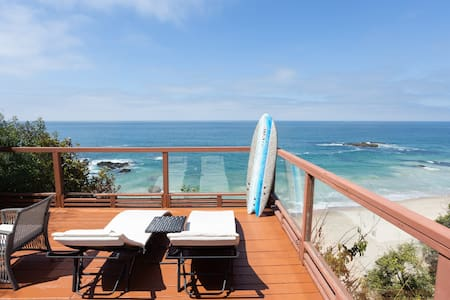 OCEAN FRONT!  Private STAIRS from home to BEACH!