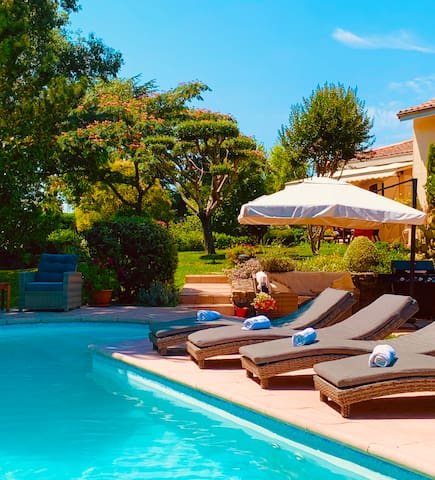 Soak up the sunshine by your own pool.