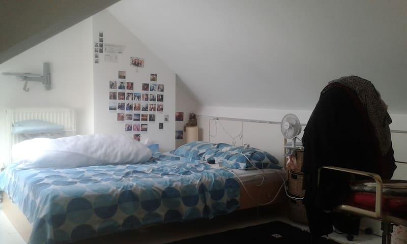 Quirky Double Loft Bedroom in Bohemian Flatshare